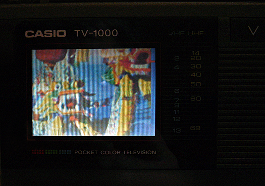 Casio TV 1000 Screen Shot photographed January 1, 2011
