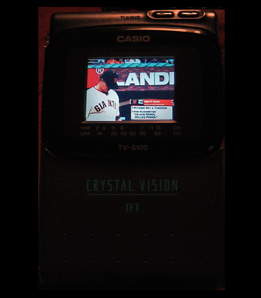 Casio TV 5100B Screen Shot photographed October 28, 2010