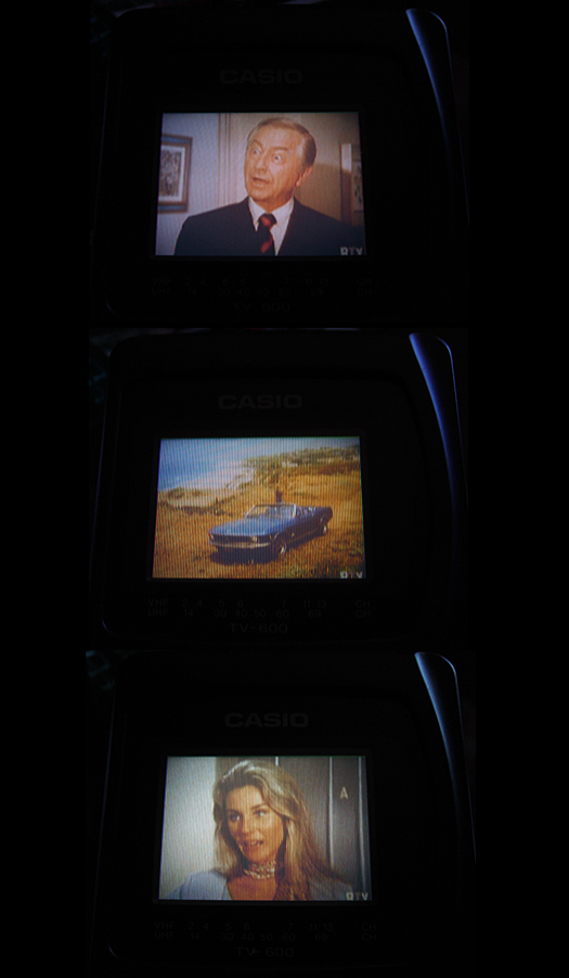 Casio TV 600 Retro Screen Shots photographed September 15, 2010