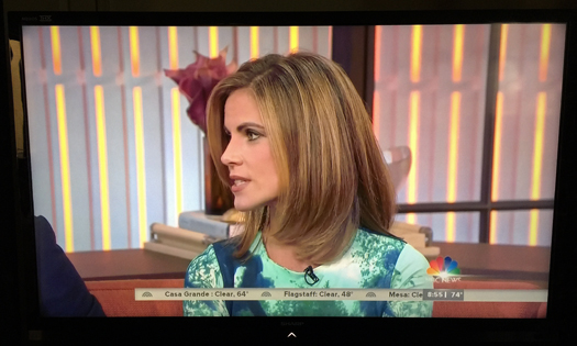 Sharp LC70LE735U Screen Shot Natalie Morales photographed October 3, 2014