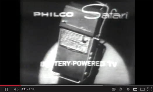 Philco Safari Commercial