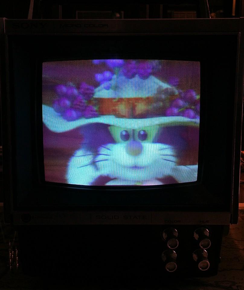 Sony Chromatron KV 7010U Screen Shot photographed April 20, 2015