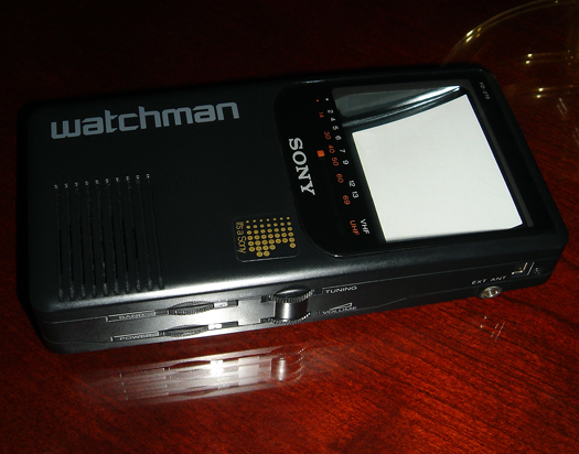 Sony Watchman FD 270 photographed September 14, 2010