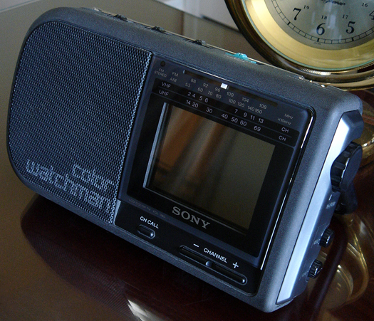 Sony FDL 380 Color Watchman AM/FM Stereo photographed May 1, 2010