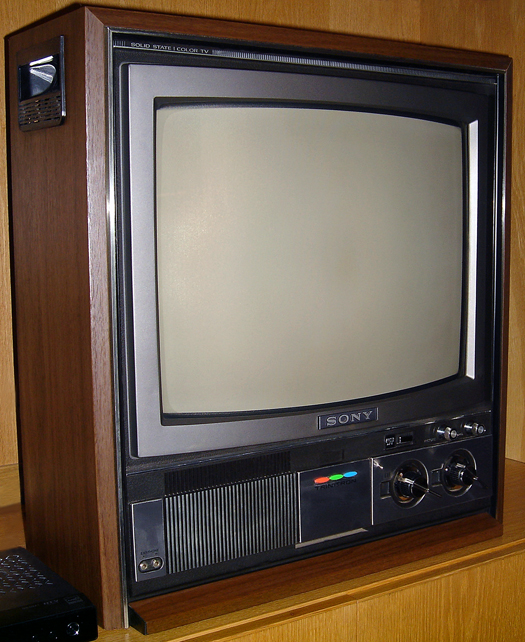 Sony KV 1722 Trinitron photographed June 7, 2011