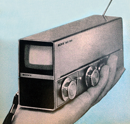 Sony 1967 prototype courtesy Popular Electronics