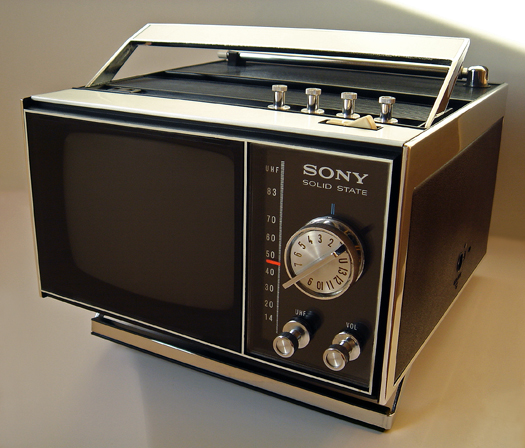 Sony TV-500U photographed December 2, 2011