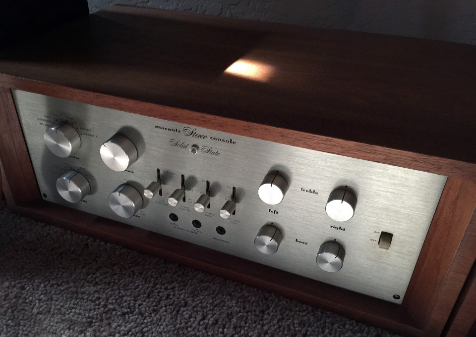 Marantz Model 7T preamplifier photographed
