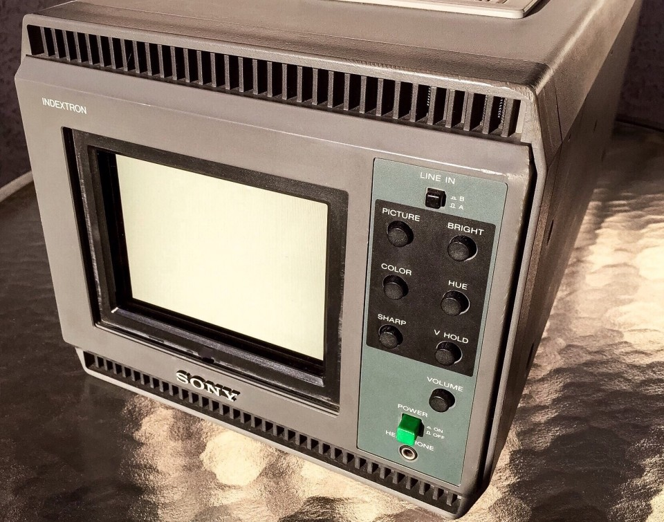 Sony IDX-5000 Indextron with screen cover removed photographed November 24, 2015